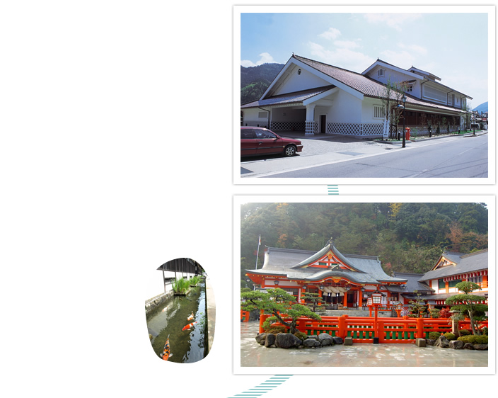 安野三雅美術館。殿町通り。太鼓谷稲成神社。森鴎外記念館。