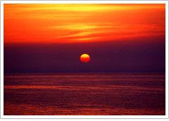 キララビーチの夕日