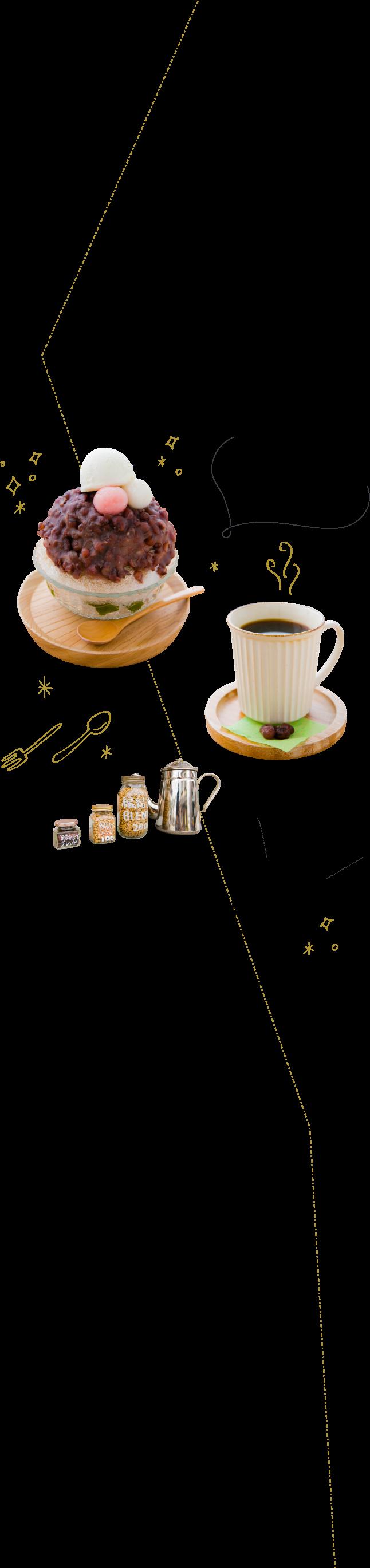 ボリューム満点の出雲ぜんざい氷と自家焙煎コーヒーが人気!テイクアウトもできます♪