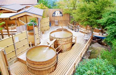 特典で無料入浴できる指定の温泉施設