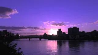 大橋川・宍道湖の朝日