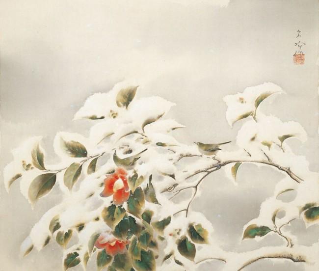 雪中棲小禽