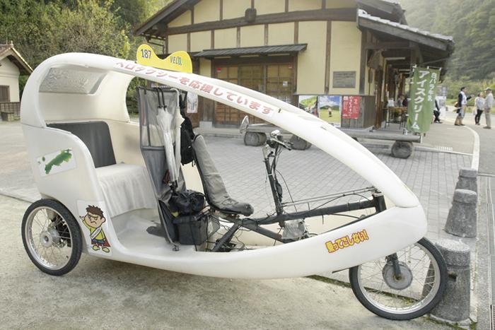 石見銀山の観光に便利なベロタクシー