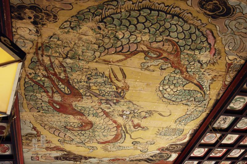 城上神社 龍の天井