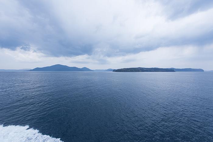 隠岐の船旅 フェリーからの景色