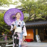 Strolling around the Tamatsukuri Onsen Resort
