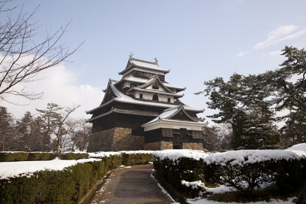 matsue castle winter