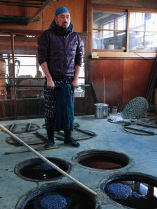 Mr. Amano (indigo dyeing)