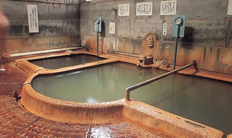 Trois bains à Motoyu