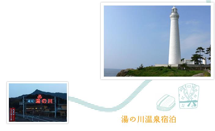 日御碕灯台と湯の川温泉
