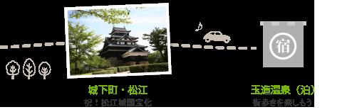 2日目。城下町・松江、玉造温泉で宿泊