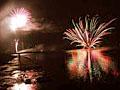 神西湖 湖上花火大会