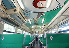 鬼太郎列車・車内