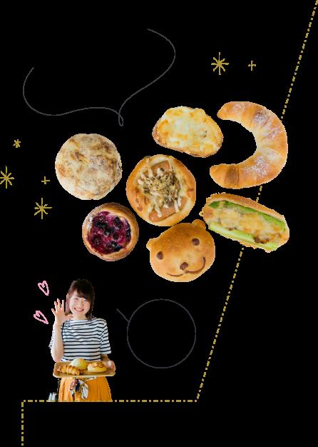 こだわりの天然酵母パン、日替わりや季節限定パンなど種類も豊富♪どれも美味しそう♪
