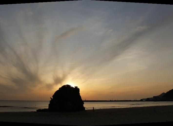 稲佐の浜の夕日
