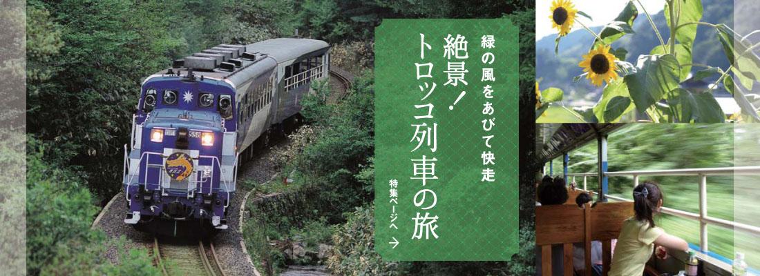 絶景!トロッコ列車の旅