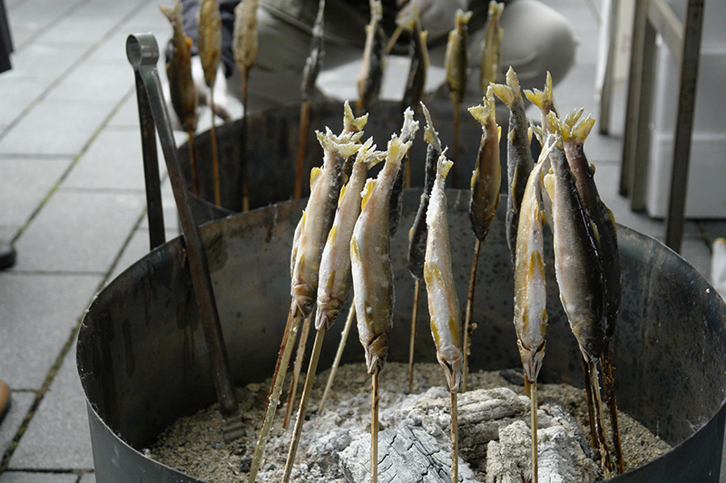 鮎の炭焼き