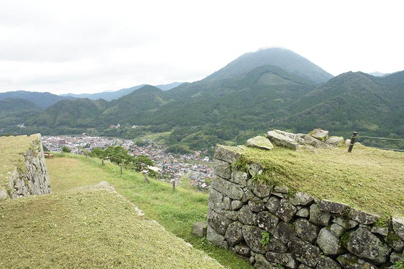 津和野城跡からの景色