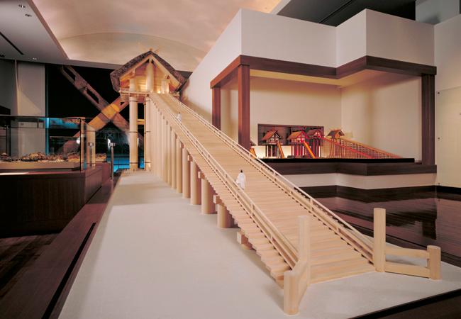 古代の出雲大社の模型