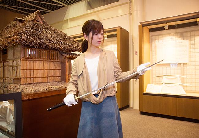 和鋼博物館の日本刀