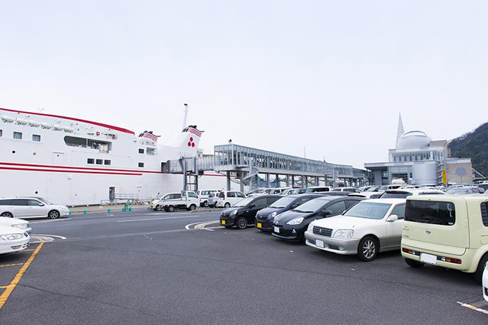 隠岐の船旅 七類港 駐車場