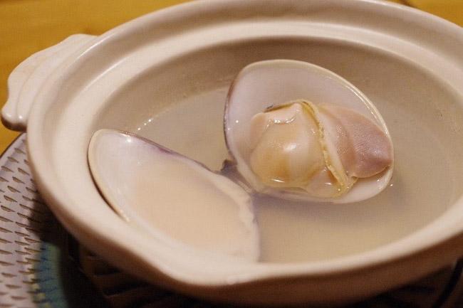 田吾作 鴨島蛤の酒蒸し