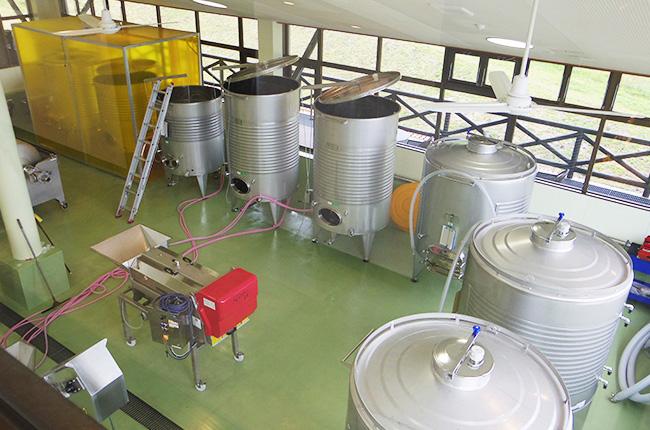 石見ワイナリー 醸造室