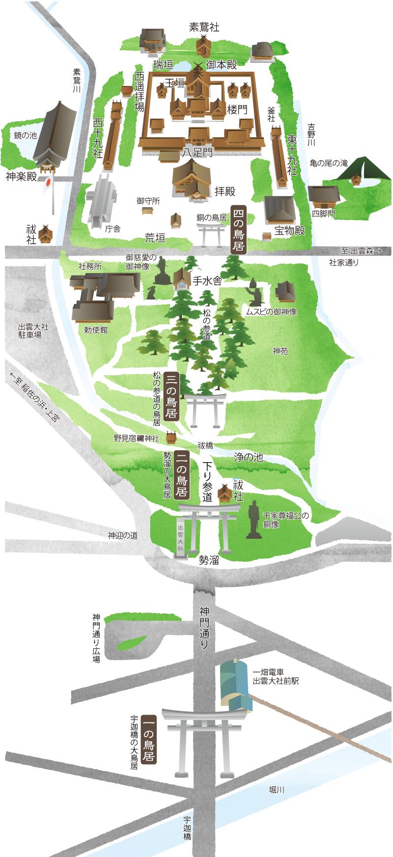 出雲大社境内マップ