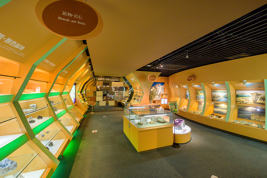 鉱物・岩石展示室
